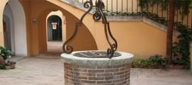 Pescara, Casa D'Annunzio, pozzo nel cortile